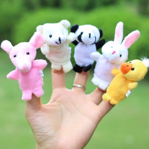 10-pcs-lot-Baby-Plush-Toy-Finger-Puppets-Tell-Story-Props-10-animal-group-Animal-Doll