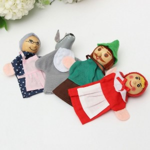 4-pcs-set-Mini-Cartoon-Red-Riding-Hood-Baby-Playful-Finger-Toy-Puppet-Storytelling-Role-Doll